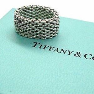 Tiffany & Co. Somerset ring sterling silver size 7